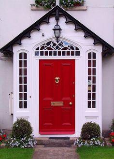 red doors, ball, door colors, vibrant colors, front doors, paint, hous, porch decorating, garden