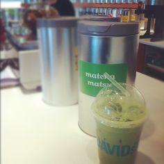 Iced Matcha Tea Latte from David's Tea in Whistler.