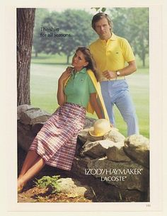 Image result for izod lacoste clothing 1980s