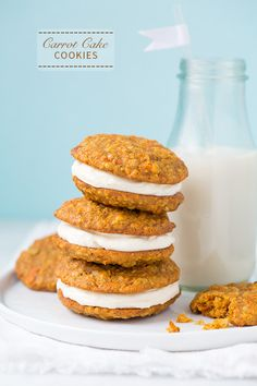 Carrot Cake Cookies - These taste just like carrot cake. Definitely one of my new favorite cookies!!