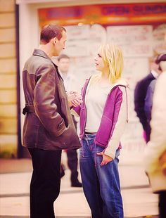 Nine and Rose - just talking. And still holding hands. :)