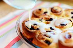 Lemon Blueberry Sweet Rolls by Ree Drummond / The Pioneer Woman, via Flickr