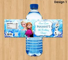 Hey, I found this really awesome Etsy listing at https://www.etsy.com/listing/177096218/frozen-bottle-labels-disney-frozen-water