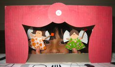The Diary of a Nouveau Soccer Mom: Recycled Art - Tissue Box Challenge, 2012 make a stage for a puppet show
