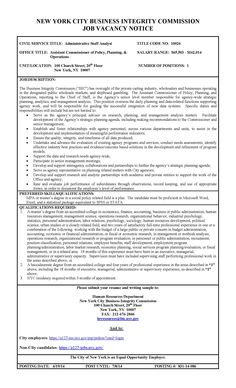Job Posting - Assistant Commissioner of Policy, Planning and Operations
