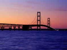 Michigan - The Mackinac 'Big Mac' Bridge connects the mitten with the Upper Peninsula