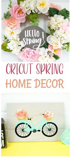 We want to  celebrate spring by making some Cricut Spring Home Decor! Pull out the craft  materials and let's start creating. #cricut #diy #crafts #projects #diycrafts #diyprojects #diyideas  #diecutting #diecuttingmachine #cutfiles #svgfiles #diecutfiles  #diycricutprojects #cricutprojects #cricutideas #vinylprojects #vinyl