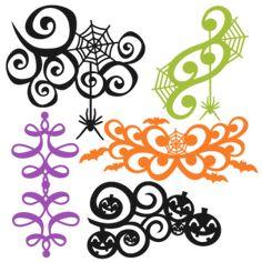 Halloween Flourish Set SVG
