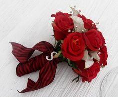 white roses and black calla lillies | Modern Red Silver White Bouquet Garden Spring Summer Winter Wedding ...