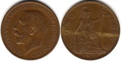 Found one of these, and a few other old coins while cleaning out my room. U.K. One Penny 1921 pattern penny