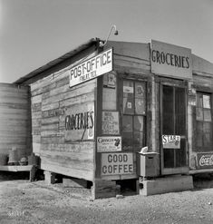 Groceries - Post Office, Finlay, Texas, May 1937