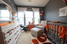grey/orange nursery.