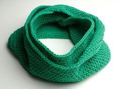 Emerald Green Crochet Infinity Scarf