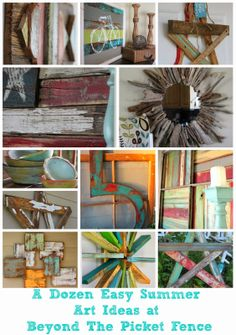 """Repurposed Summer """"Art"""" Ideas~From beyondthepicketfence"""
