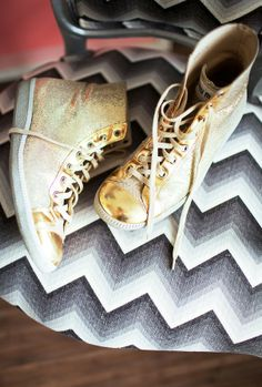 Miu-Miu gold sneakers