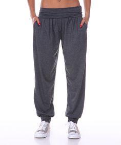 Charcoal Track Harem Pants