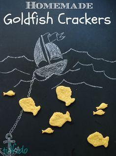 Homemade Cheesy Goldfish Crackers Tutorial and Recipe | TikkiDo.com