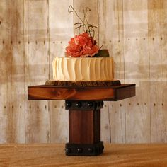 Rustic Timber Style Cake Stand cake stands, style cake