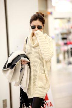 Filthy Magic — Turtleneck Knit Dress - StyleSays