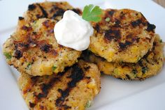 Grilled Cheesy Corn Cakes!!