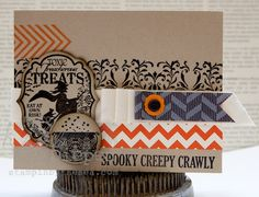 Stampin' Up! Halloween  by Kimberly Van Diepen  Toxic Treats and Border Banter