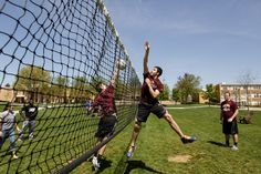 """The #quad is a favorite gathering spot for #Alvernia students! Play some volleyball, relax in an adirondack chair or enjoy your lunch at a picnic table. It's also home to the annual event called """"Quad""""!"""