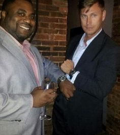 Shawn Mosley wears his new Tudor Pelagos and Erik Szper wears his Panerai PAM 305 Luminor Submersible at Tudor's Launch Party in Baltimore, MD.