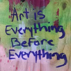 Art Is   --  Franck De Las Mercedes  http://franckdelasmercedes.com/