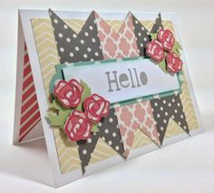 Courtney Lane Designs: Rosey Hello card