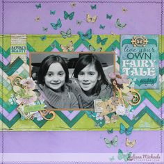 Live Your Own Fairytale Scrapbook Page by Bobunny designer Juliana Michaels #bobunny #enchantedgarden #scrapbookpage  @julianamichaels