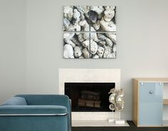Fireplace fun // If you have a natural focal point in your room, amp it up with a canvas print! Photos on canvas over the fireplace are a sure-fire way to add even more impact. // www.canvaspop.com
