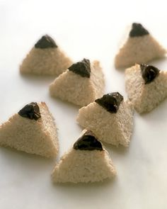 coconut pyramid snack or make Rice Krispie treat pyramid snacks for Moses Bible story