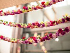 pom pom/flower bunting