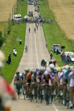 """The crash that shattered the field with approximately 25km to go"" Photo: © AFP Tour de France 2012 Stage 6 #tdf #sbstdf"
