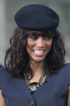 Tyra Banks cool hat hairstyle
