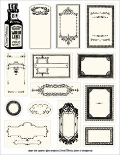 apothecary style labels free download@Callie Smith