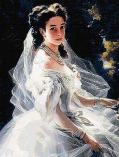 Bride cross stitch