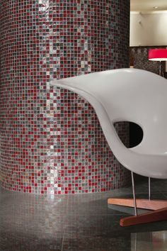 Crossville Porcelain Tile - Origins Glass Landscape - Fire Blend - Bluestone - Vermont Black Honed