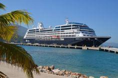 The Azamara Quest in Labadee, Haiti during a Caribbean cruise.