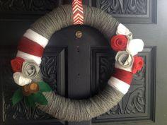 fan wreath, wreathsbouquetswed diy, yarn wreaths