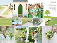 {Spring is in Bloom}: A Palette of Chartreuse, Dusty Aqua & Light Green