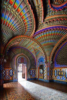 The Peacock Room | Castello di Sammezzano in Reggello, Tuscany, Italy.