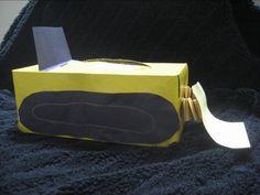 Tissue Box Bulldozer craft.