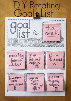Rotating Goal List - Click on the image for the Tutorial!