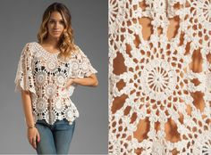 I would love to figure this out!  All to Create ...: crochet blouses and shirts
