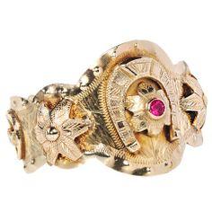 Gypsy Jewelry - Scarce American Cuff Bracelet