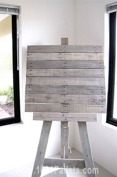 Pallet easel #Painting