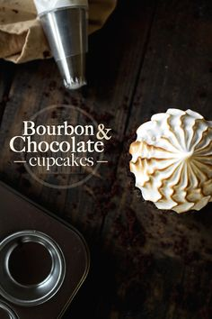 Bourbon and Chocolate Cupcakes from @chasingdelicious