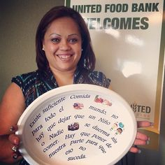 UFB's staff is standing up to hunger this #HungerAction month too! Here Maria shows why she's working to end hunger.   Show us your paper plate! Use #UFBendshunger on Facebook or Instagram!