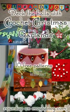 free crochet christmas garland patterns holiday bunting patterns free